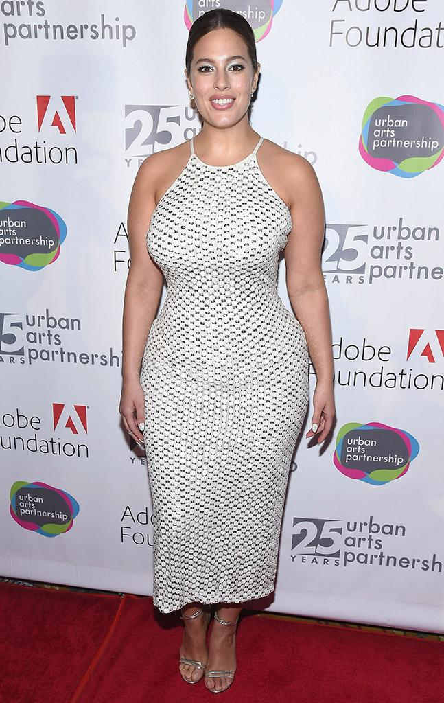 Ashley Graham showed off her curves at the Urban Arts Partnership 25th Anniversary Benefit.
