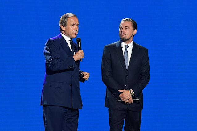 <p>The Swiss art auctioneer joined DiCaprio's efforts to raise funds for the cause. (Photo by Venturelli/Getty Images for LDC Foundation) </p>