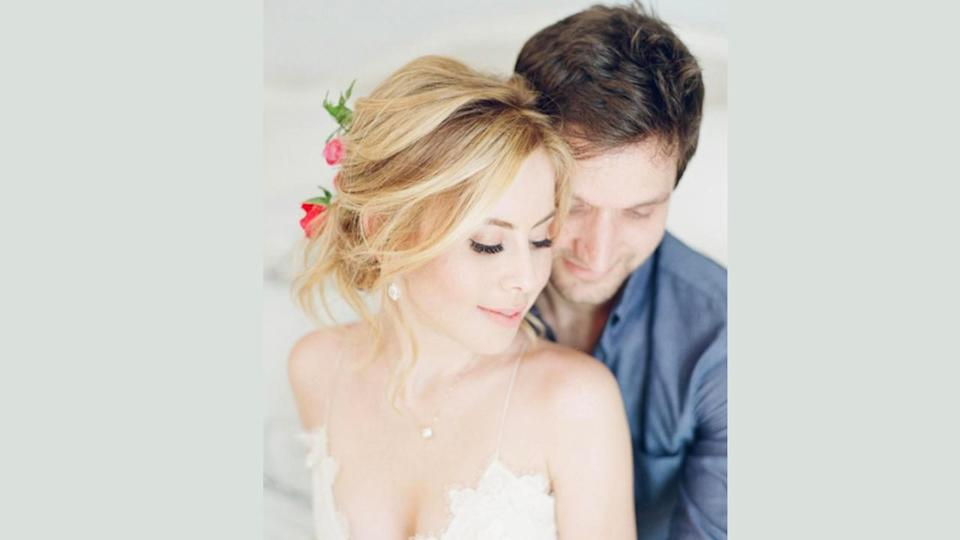 The former figure skater tied the knot with Todd Kapostasy last Saturday.