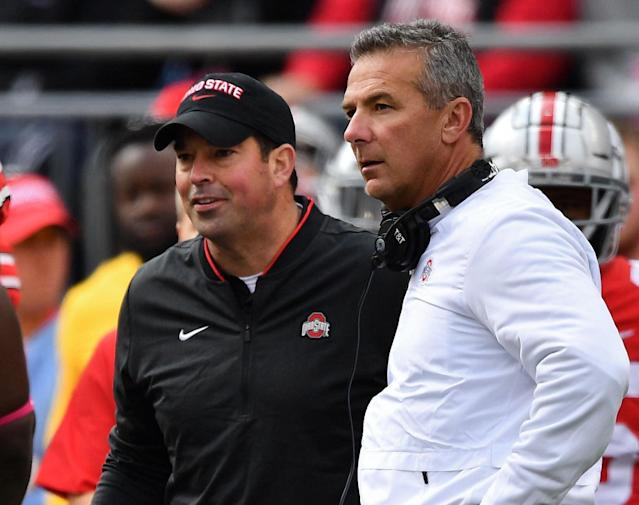Ryan Day (L) has a very different style of coaching from his predecessor Urban Meyer. (Getty)