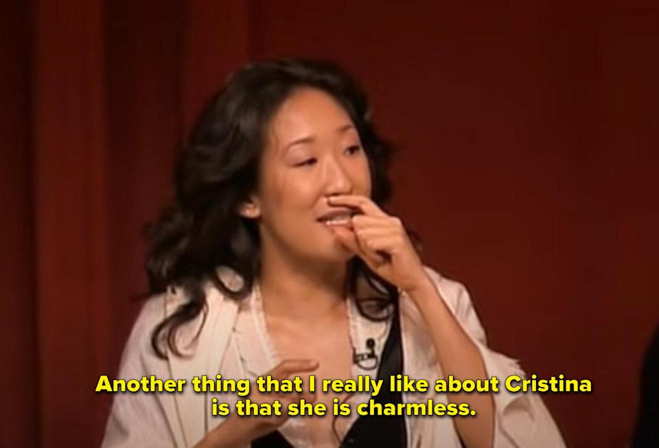 """Sandra Oh: """"Another thing that I love about Cristina is that she is charmless"""""""