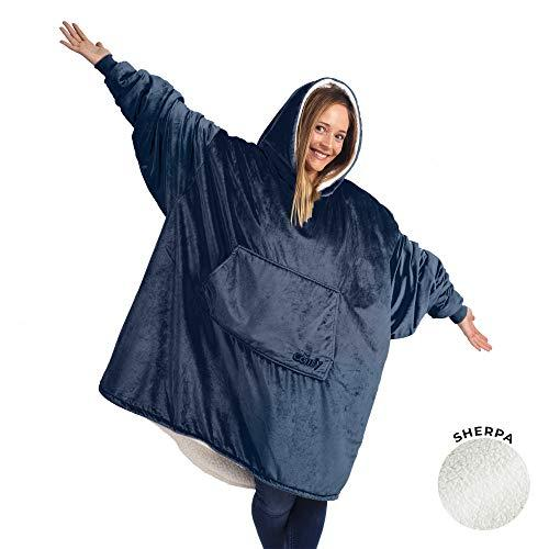 THE COMFY | The Original Oversized Wearable Sherpa Blanket, Seen On Shark Tank, One Size Fits All Blue (Amazon / Amazon)
