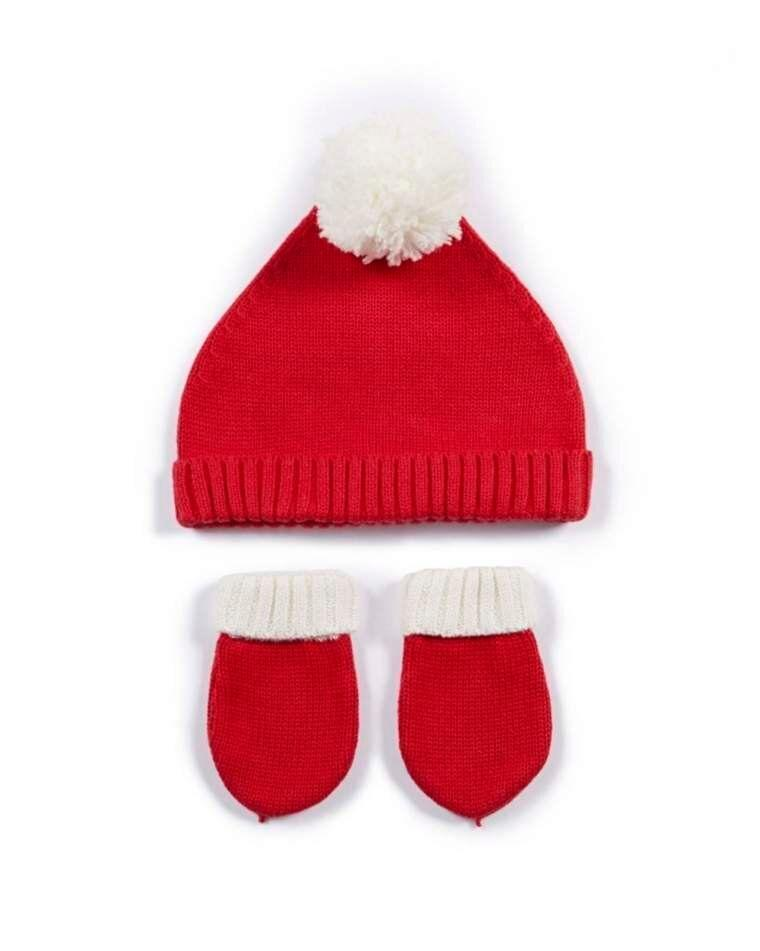 Santa Hat & Mitts (Photo: Mamas & Papas)