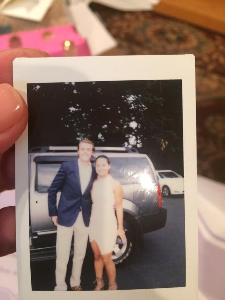 The photo the wedding crashers put in their card.