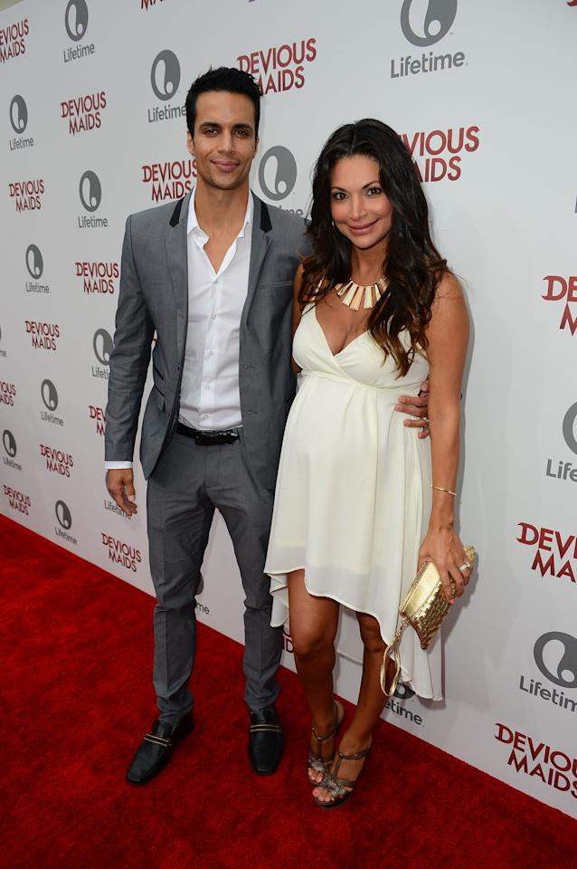 PACIFIC PALISADES, CA - JUNE 17:  Matt Cedeno and Erica Franco attend the premiere of Lifetime Original Series 'Devious Maids' at Bel-Air Bay Club on June 17, 2013 in Pacific Palisades, California.  (Photo by Mark Davis/Getty Images)