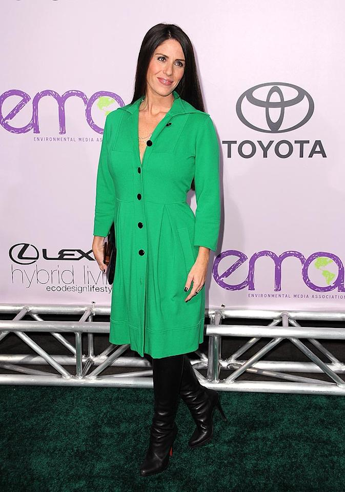 "Soleil Moon Frye (aka Punky Brewster) makes a rare public appearance in an unflattering green shirt dress and black boots. Jordan Strauss/<a href=""http://www.wireimage.com"" target=""new"">WireImage.com</a> - November 13, 2008"
