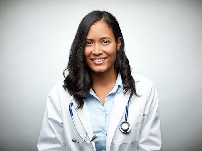 A female doctor of color.