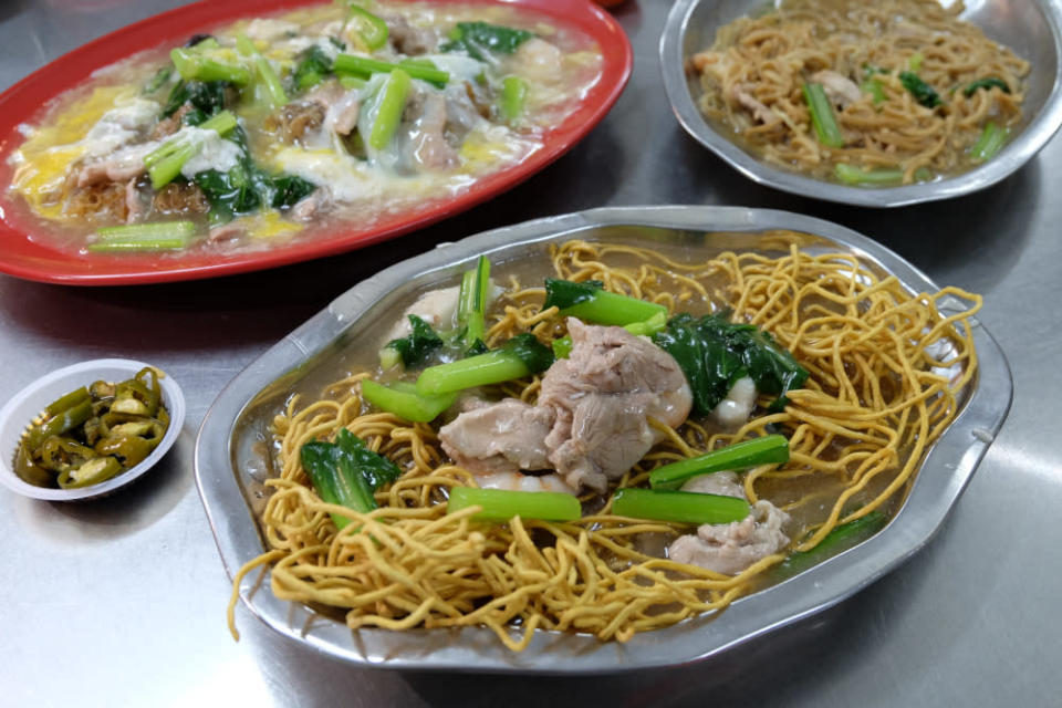 In the evenings, they serve traditional noodles such as 'sang mee', 'char hor fun' and 'yee mee'. — Picture by Steven Ooi KE