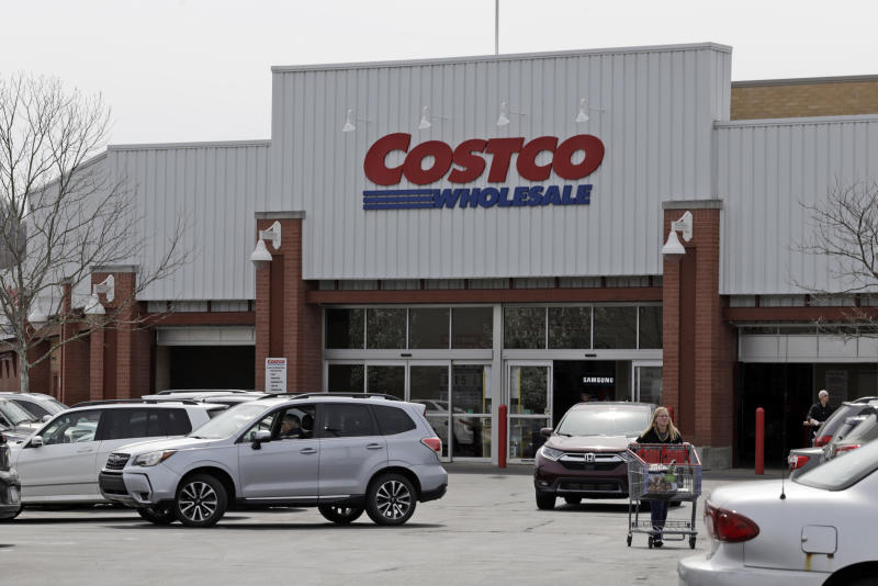 This is a Costco store in Homestead, Pa. on Thursday, April 11, 2019. (AP Photo/Gene J. Puskar)
