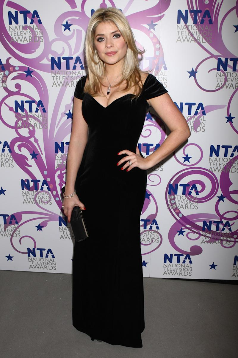 LONDON, ENGLAND - JANUARY 20: Holly Willoughby arrives at the National Television Awards held the at The O2 Arena on January 20, 2010 in London, England. (Photo by Dave Hogan/Getty Images)