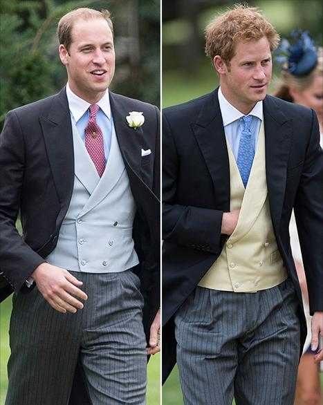 Prince William, Prince Harry and Pippa Middleton Attend Wedding Without Kate Middleton