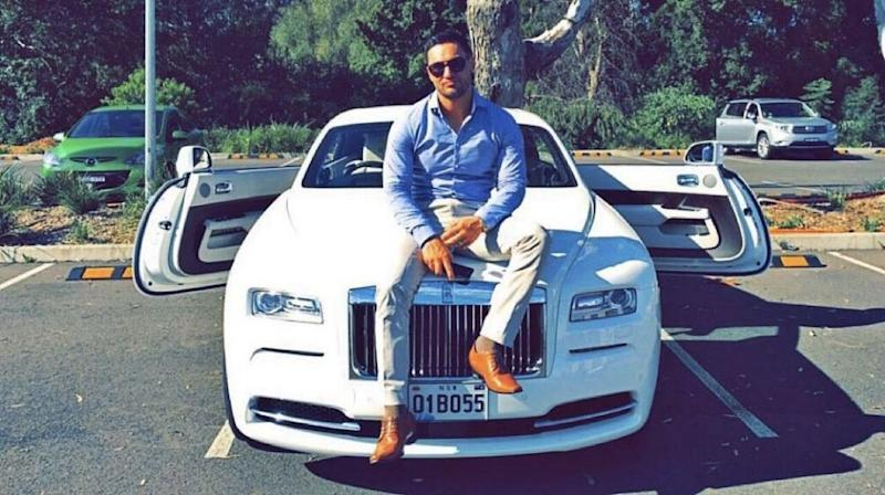 Salim Mehajer is pictured with his white Rolls Royce with the caption: