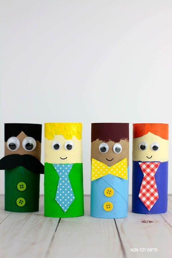 """<p>Transform an empty paper roll into a mini version of Dad with some craft paint, buttons, and googly eyes. </p><p><strong><em>Get the tutorial at <a href=""""https://nontoygifts.com/paper-roll-fathers-day-craft/"""" rel=""""nofollow noopener"""" target=""""_blank"""" data-ylk=""""slk:Non-Toy Gifts"""" class=""""link rapid-noclick-resp"""">Non-Toy Gifts</a>. </em></strong></p><p><a class=""""link rapid-noclick-resp"""" href=""""https://www.amazon.com/Neenah-Creative-Collection-Specialty-Cardstock/dp/B003A2I4V2?tag=syn-yahoo-20&ascsubtag=%5Bartid%7C10070.g.2461%5Bsrc%7Cyahoo-us"""" rel=""""nofollow noopener"""" target=""""_blank"""" data-ylk=""""slk:SHOP COLORED CRAFT PAPER"""">SHOP COLORED CRAFT PAPER</a></p>"""