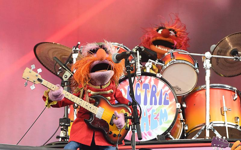 SAN FRANCISCO, CA - AUGUST 07: Animal and Floyd Pepper of Muppet Band Dr. Teeth & the Electric Mayhem perform during the 2016 Outside Lands Music And Arts Festival at Golden Gate Park on August 7, 2016 in San Francisco, California. (Photo by C Flanigan/WireImage)