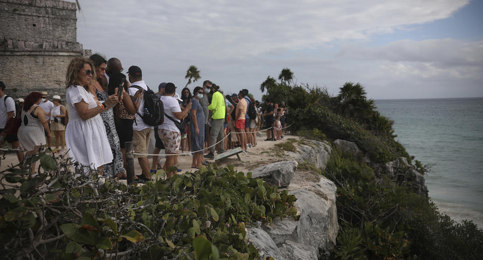 There are fears coronavirus cases could spike in Mexico after tens of thousands of Americans travelled there over the holiday period. Source: AP