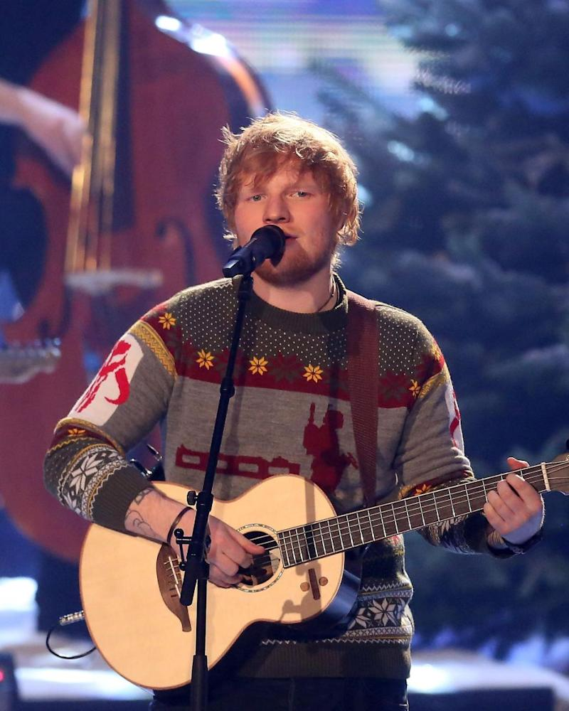 In 2016, Sheeran was hit with a $25 million ($20 million) lawsuit song Photograph. He is pictured here performing in Germany in December 2016. Source: Getty