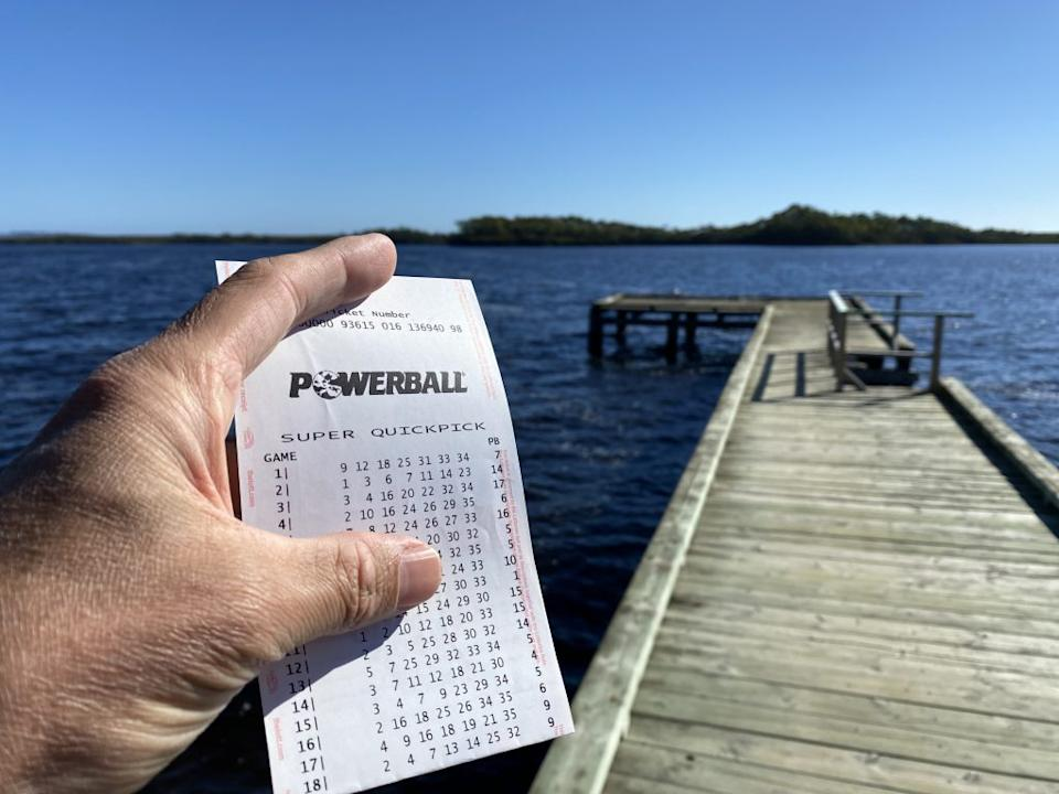 A file picture of a Powerball QuickPick ticket. Source: The Lott