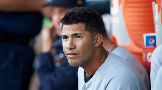 The Yankees called up Gleyber Torres from Triple A Scranton Wilkes-Barre to play with them on Sunday against the Toronto Blue Jays, the team announced Sunday.