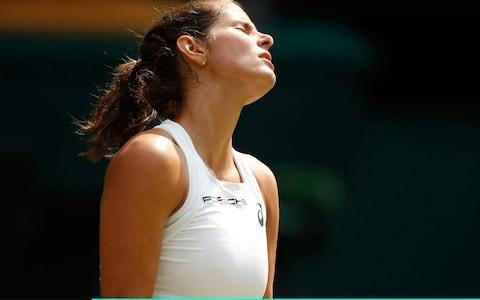 <span>Goerges is disappointed after losing serve</span> <span>Credit: Getty Images </span>