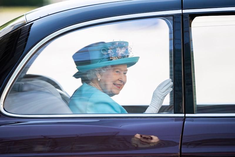 The Queen recalled trips with BA in her younger days as she visited the HQ (EPA)