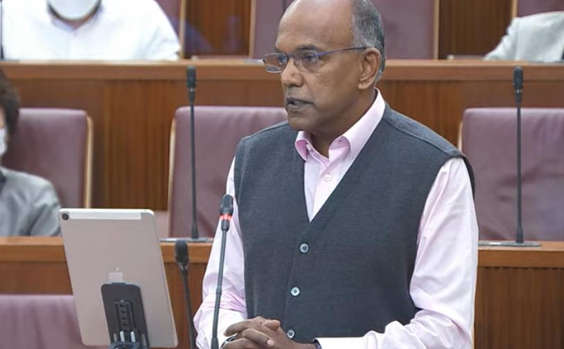 Law and Home Affairs Minister K Shanmugam speaking in Parliament on 4 October 2021. (SCREENSHOT: Ministry of Information and Communications/YouTube)