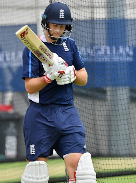 England's captain Joe Root waits for his batting turn during a net session in Brisbane, on November 22, 2017