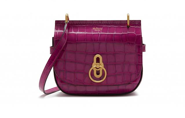 "<p>The famed British brand is launching a new bag style. The Amberley satchel was first seen on the London Fashion Week catwalk and is inspired by all things British with a whole lot of equestrian detailing. It comes in lots of sizes, textures and colours so get browsing.<br><a href=""http://www.mulberry.com/gb/fashion-week/amberley"" rel=""nofollow noopener"" target=""_blank"" data-ylk=""slk:Mulberry, from £450"" class=""link rapid-noclick-resp""><i>Mulberry, from £450</i></a> </p>"