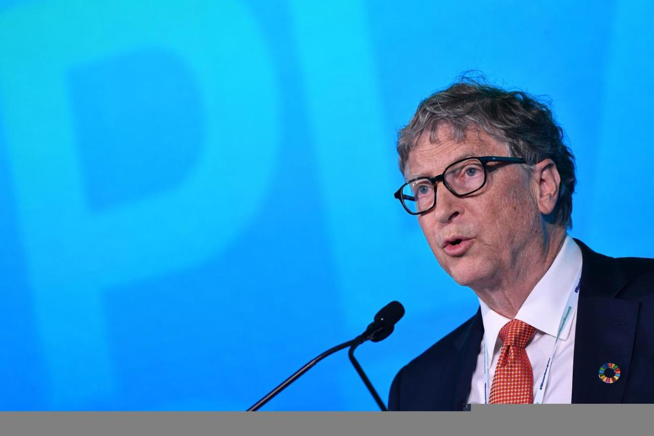 <p>Anche Bill Gates mollò Harvard per fondare Microsoft. (Photo by MANDEL NGAN / AFP) </p>