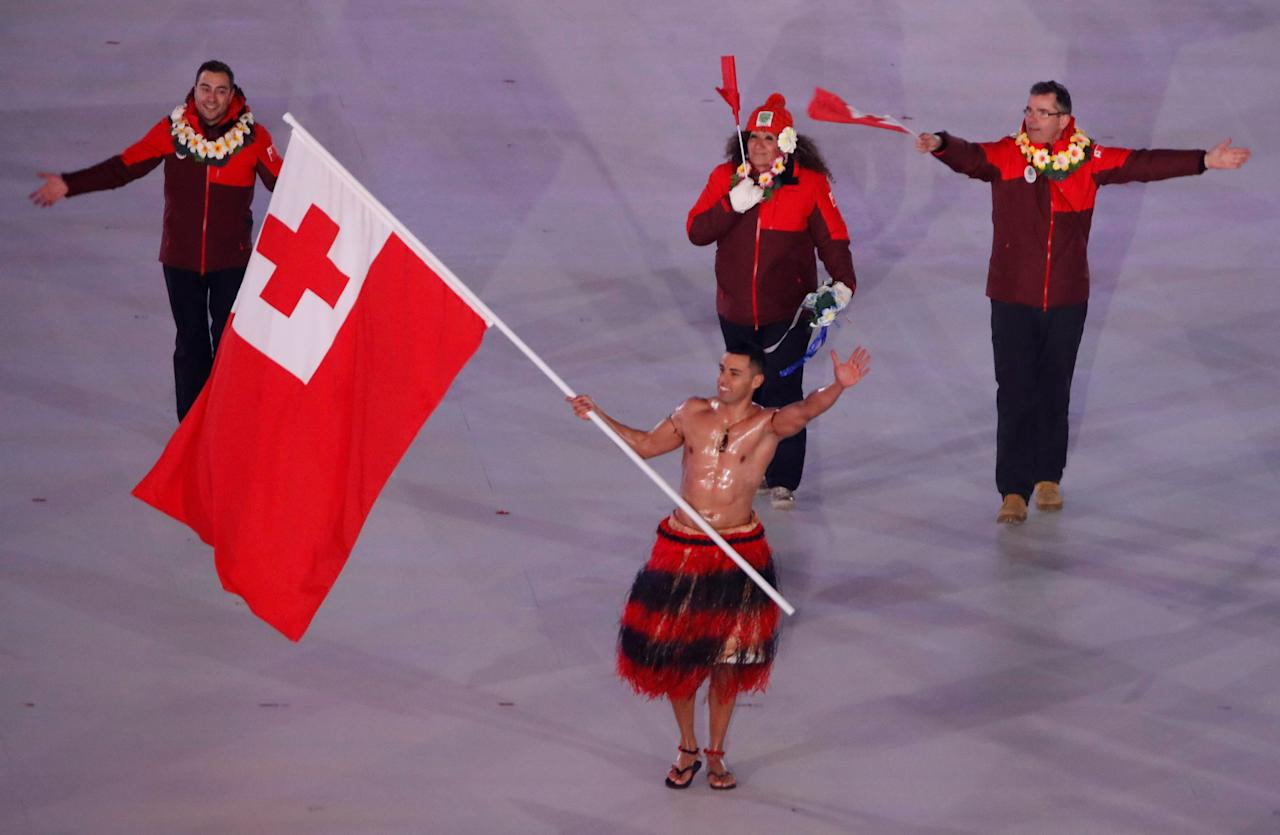 <p>What's an opening ceremony anymore without our favorite shirtless, oiled up Tongan? He doesn't wear much, but Pita Taufatofua's outfit always steals the show. </p>