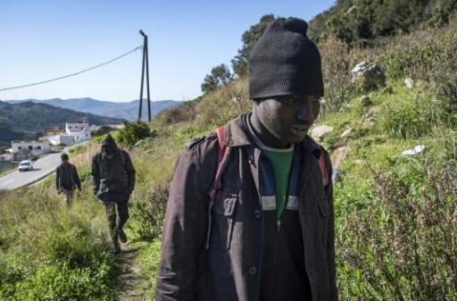 With Moroccan authorities detaining migrants, the boys hide out in the forest a few kilometres from Ceuta on Morocco's northern coast
