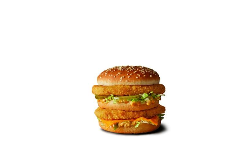 Get in my belly! Macca's have just announced they are bringing back the Chicken Big Mac for a limited time. Photo: McDonald's
