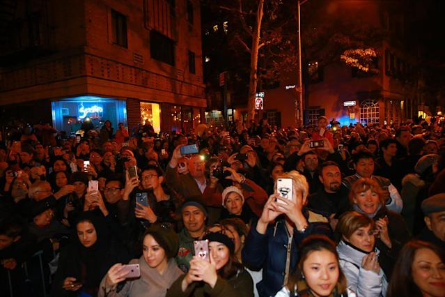 <p>People take photos with their phones during the 44th annual Village Halloween Parade in New York City on Oct. 31, 2017. (Photo: Gordon Donovan/Yahoo News) </p>