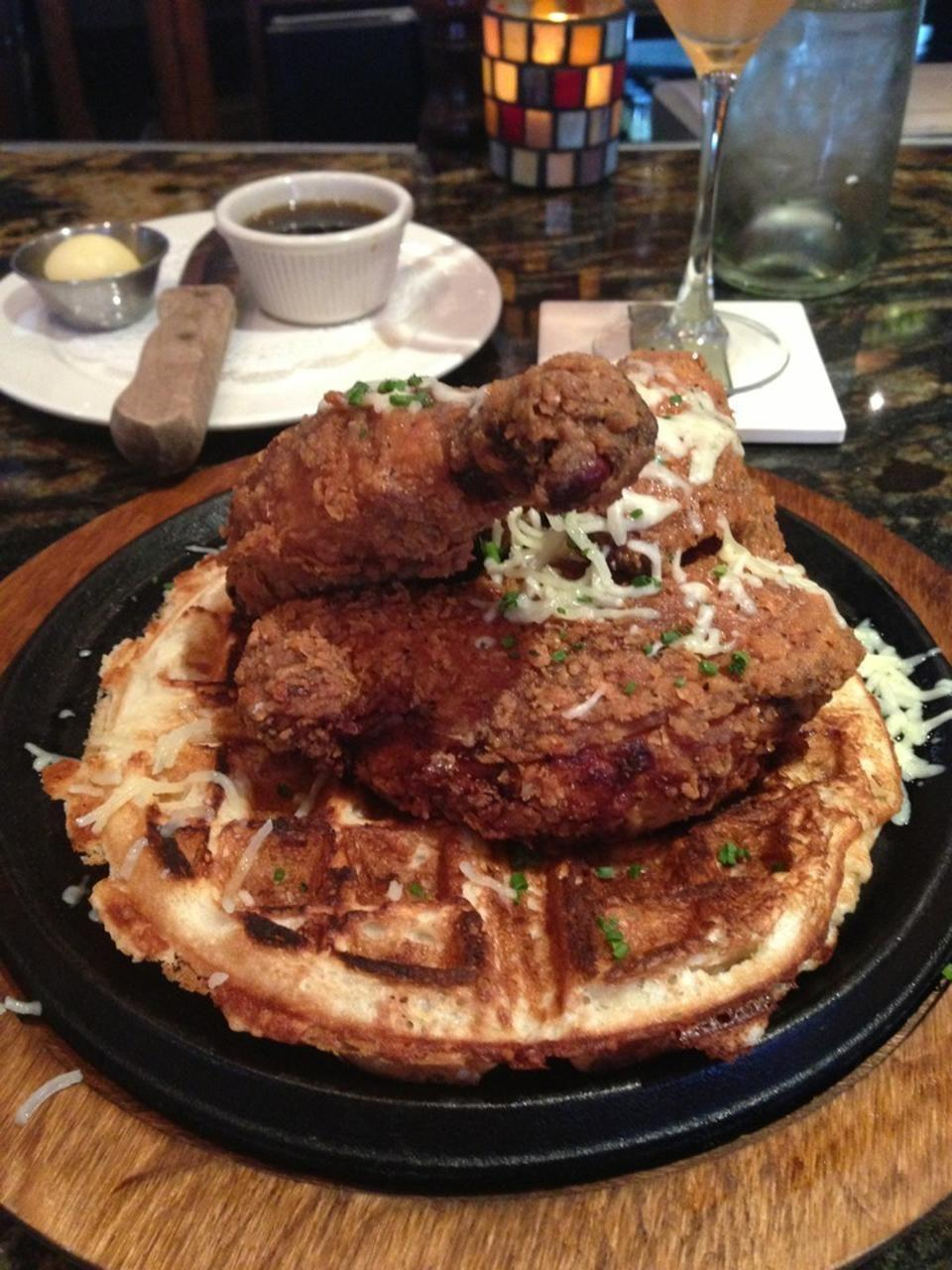 """<p><a href=""""https://www.tripadvisor.com/Restaurant_Review-g35394-d2041291-Reviews-Fork-Boise_Idaho.html"""" rel=""""nofollow noopener"""" target=""""_blank"""" data-ylk=""""slk:Fork"""" class=""""link rapid-noclick-resp"""">Fork</a>, Boise</p><p>Fork <span class=""""entity tip_taste_match"""">classes</span> up <span class=""""entity tip_taste_match"""">comfort food</span>. Chicken<span class=""""entity tip_taste_match""""> and waffles</span> with a gourmet twist.<span class=""""redactor-invisible-space""""> - Foursquare user <a href=""""https://foursquare.com/boiseweekly"""" rel=""""nofollow noopener"""" target=""""_blank"""" data-ylk=""""slk:Boise Weekly"""" class=""""link rapid-noclick-resp"""">Boise Weekly</a></span><br></p>"""