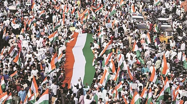 hyderabad flags shortage, hyderabad tricolour demand, caa protests hyderabad, anti caa rallies hyderabad, citizenship law protests