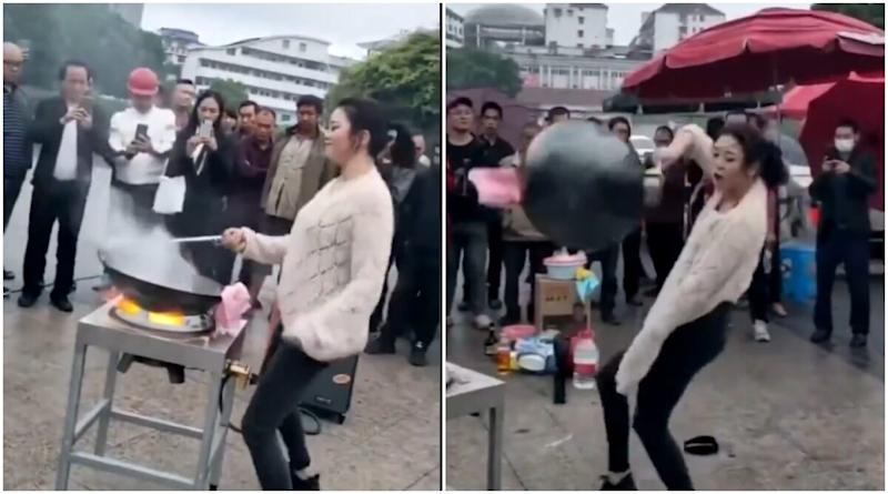 Woah! Woman's Noodle Making Skills While Dancing Vigorously With the Wok on Opa Gangnam Style Have Amazed the Internet! (Watch Viral Video)