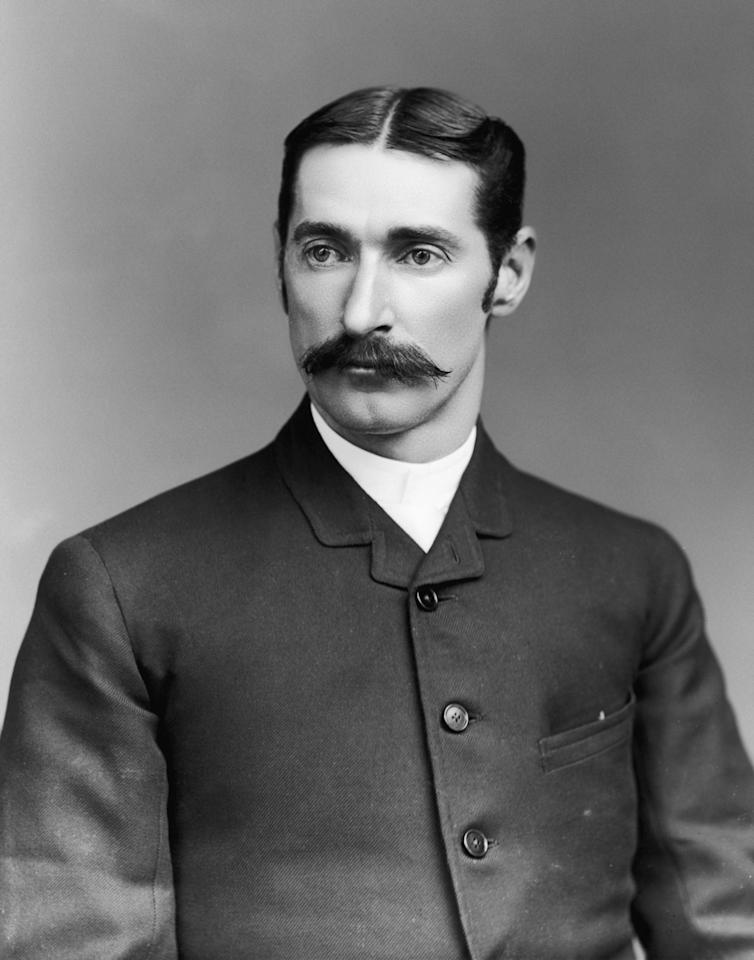 Australian cricketer Frederick Robert Spofforth (1853 - 1926), circa 1880. (Photo by Rischgitz/Hulton Archive/Getty Images)