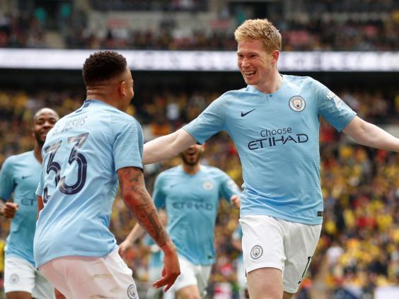 Manchester City's Kevin De Bruyne celebrates scoring (Action Images via Reuters)