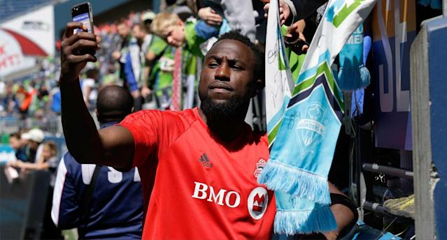 Altidore can strike a pose, too. (AP Photo)