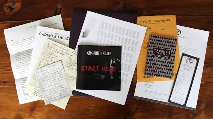 Each Hunt a Killer box provides you with an array of clues to help solve a crime.