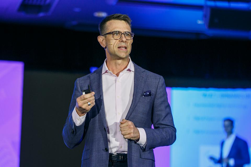 Sean Gallagher presents at the Yahoo Finance All Markets Summit. Image: Yahoo Finance