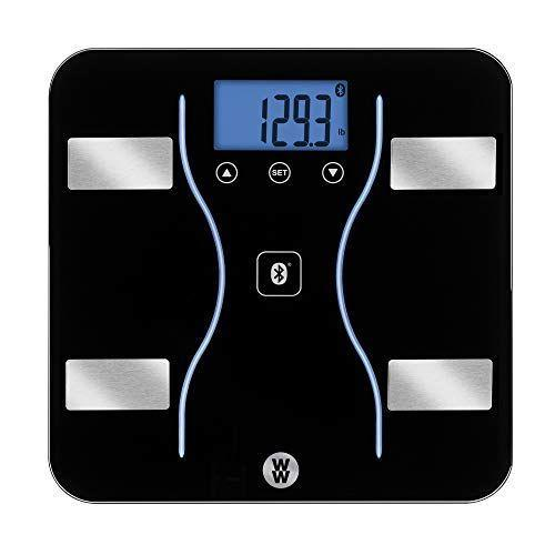"""<p><strong>WW Scales by Conair</strong></p><p>amazon.com</p><p><strong>$57.77</strong></p><p><a href=""""https://www.amazon.com/dp/B01N9HUIP4?tag=syn-yahoo-20&ascsubtag=%5Bartid%7C10055.g.2108%5Bsrc%7Cyahoo-us"""" rel=""""nofollow noopener"""" target=""""_blank"""" data-ylk=""""slk:Shop Now"""" class=""""link rapid-noclick-resp"""">Shop Now</a></p><p>Another model backed by the Good Housekeeping Seal, <strong>this WW scale is a standout for intelligence, including Bluetooth connectivity</strong> that makes it easy to sync a wealth of data — from weight and body fat to body water and bone mass — to the free app. WW members ($10 per month subscription) will have access to even more personalized tracking information. Our testers also like the smart glass design with blue backlit display. </p>"""