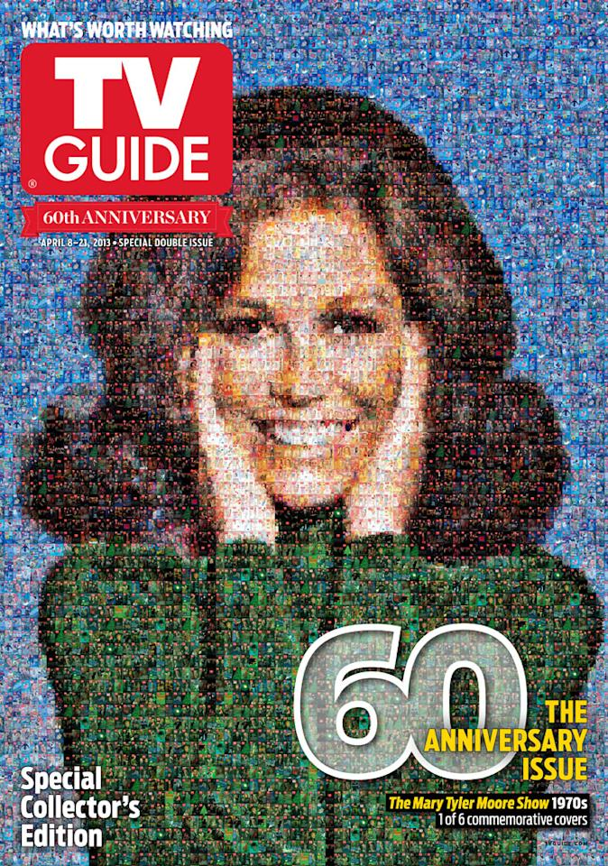 "TV Guide 60th Anniversary cover featuring ""The Mary Tyler Moore Show."""