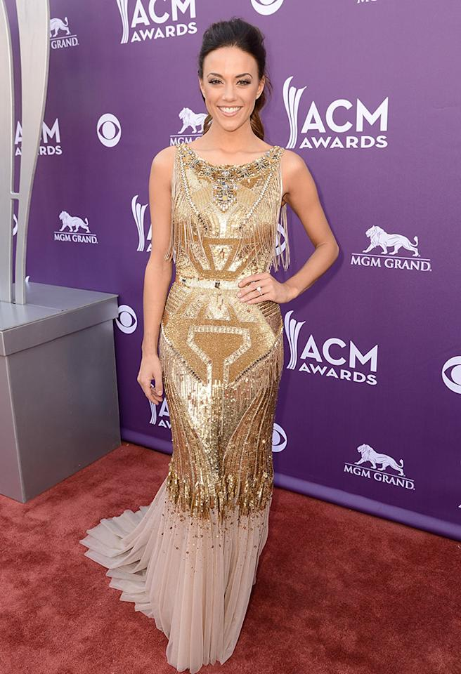 LAS VEGAS, NV - APRIL 07:  Singer Jana Kramer arrives at the 48th Annual Academy of Country Music Awards at the MGM Grand Garden Arena on April 7, 2013 in Las Vegas, Nevada.  (Photo by Frazer Harrison/ACMA2013/Getty Images for ACM)