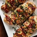 """<p>Hasselback your chicken by cutting shallow slits into your chicken breasts (don't cut all the way through!) and stuff each slit with bacon and a creamy spinach and artichoke filling. It will make your <a href=""""https://www.delish.com/uk/chicken-recipes/"""" rel=""""nofollow noopener"""" target=""""_blank"""" data-ylk=""""slk:weeknight chicken dinner"""" class=""""link rapid-noclick-resp"""">weeknight chicken dinner</a> sing! </p><p>Get the <a href=""""https://www.delish.com/uk/cooking/recipes/a32311662/bacon-and-spinach-stuffed-chicken-recipe/"""" rel=""""nofollow noopener"""" target=""""_blank"""" data-ylk=""""slk:Bacon & Spinach Stuffed Chicken"""" class=""""link rapid-noclick-resp"""">Bacon & Spinach Stuffed Chicken</a> recipe.</p>"""
