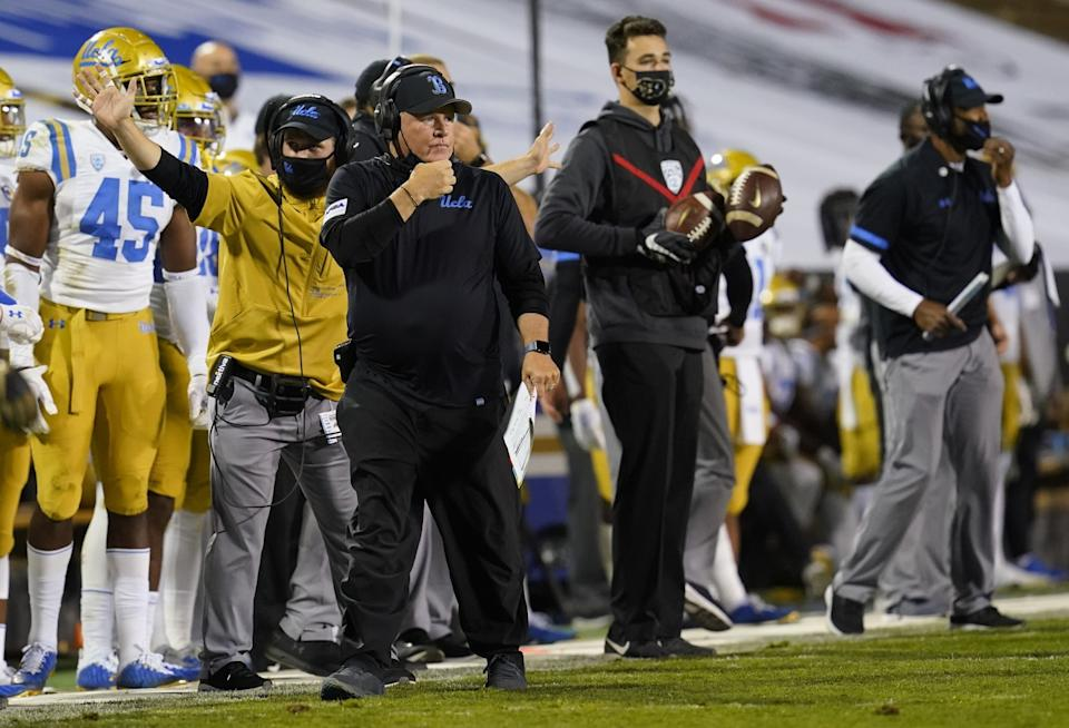 UCLA coach Chip Kelly in the second half at Colorado on Nov. 7 in Boulder, Colo.