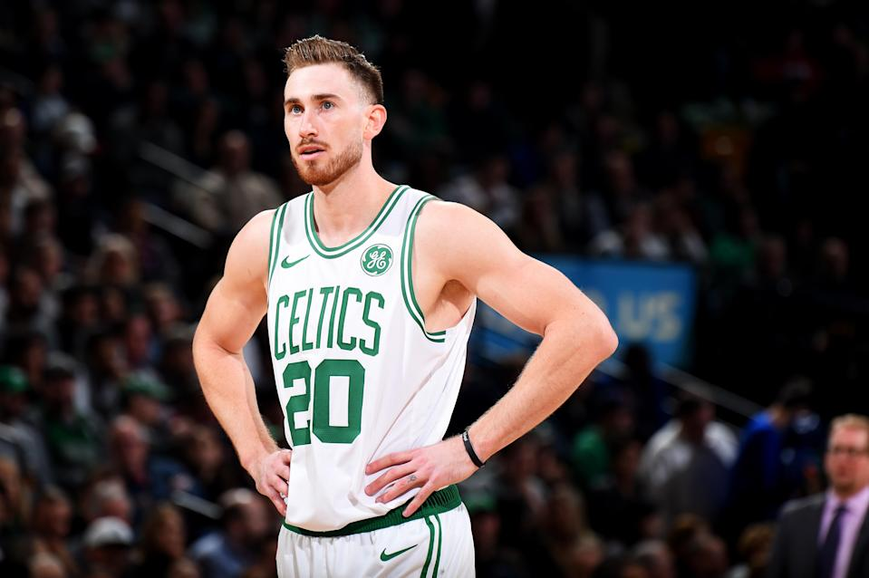 The struggling Celtics benched Gordon Hayward, who had started the previous 339 NBA games he played. (Getty)