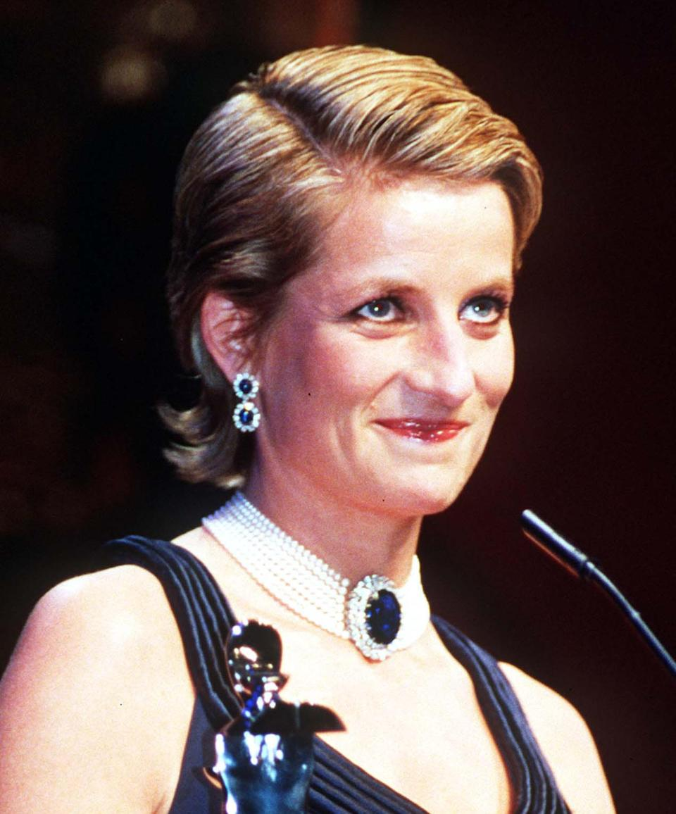"""<p>For the Council of Fashion Designer Awards in 1995, Princess Diana opted for a more spontaneous look. Her hairstylist, Sam McKnight told the story behind the iconic transformation in his book 'Hair'.<br><br>""""During one particular portrait we worked on, Lord Snowdon had the inspired idea to photograph her with wet hair and she looked incredibly chic. So, for the Council of Fashion Designers Awards in New York, we decided she would try it out in public,"""" he wrote. """"The following day the front pages spoke volumes.""""<br><em>[Photo: PA]</em> </p>"""