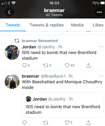 Tweet from the @braeback1 account