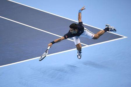 Britain Tennis - Barclays ATP World Tour Finals - O2 Arena, London - 17/11/16 Serbia's Novak Djokovic in action during his round robin match with Belgium's David Goffin Action Images via Reuters / Tony O'Brien Livepic