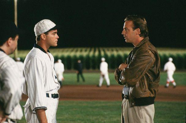 PHOTO: Kevin Costner and Ray Liotta appear in 'Field of Dreams.' (Gordon Company/IMDb)